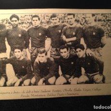 Coleccionismo deportivo: CAJA AZUL ANTIGUA MUY RARA POSTAL EQUIPO DEL FUTBOL CLUB FC BARCELONA F.C BARÇA CF . Lote 112180951