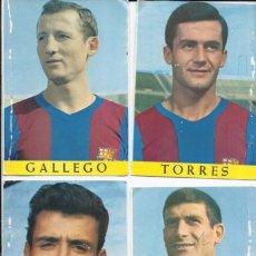 Coleccionismo deportivo: LOTE DE 4 POSTALES ANTIGUAS FUTBOLISTAS FÚTBOL CLUB BARCELONA. Lote 112405338