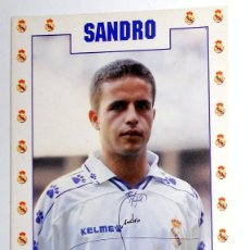 Coleccionismo deportivo: POSTAL ANTIGUA FUTBOL AÑO 1995 - SANDRO - REAL MADRID - FASE GMG - SIN CIRCULAR - AUTOGRAFO. Lote 112925555
