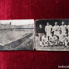 Coleccionismo deportivo: REAL MADRID C.F. ESTADIO SANTIAGO BERNABEU. HELIOTIPIA ARTISTICA ESPAÑOLA. AÑOS 50. POSTAL DOBLE. Lote 114280471