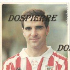Coleccionismo deportivo: POSTAL ANDER GARITANO, OFICIAL ATHLETIC DE BILBAO, CON AUTÓGRAFO Y DEDICATORIA. Lote 114794715