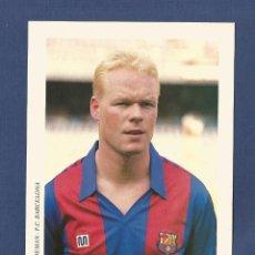 Coleccionismo deportivo: FUTBOL CLUB BARCELONA: KOEMAN (CAMISETA MEYBA) AÑOS 90. Lote 114908719