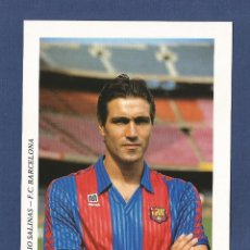 Coleccionismo deportivo: FUTBOL CLUB BARCELONA: JULIO SALINAS (CAMISETA MEYBA) AÑOS 90. Lote 114928546