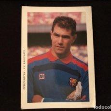 Coleccionismo deportivo: ANDONI ZUBIZARRETA - POSTAL SIN CIRCULAR DEL PORTERO DE F.C. BARCELONA AÑOS 80 - 17 X 12 CMS. . Lote 116865543