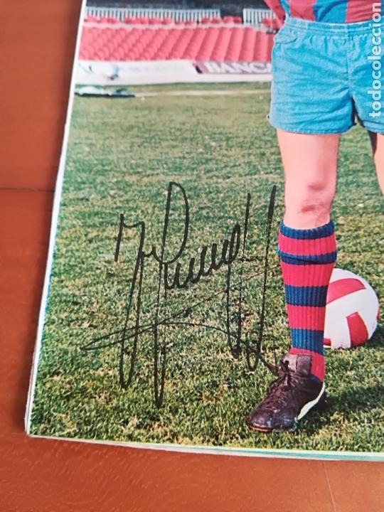 Coleccionismo deportivo: Postal Johan Cruyff firma impresa - FC Barcelona Barça fútbol culé autógrafo - Foto 2 - 117024740