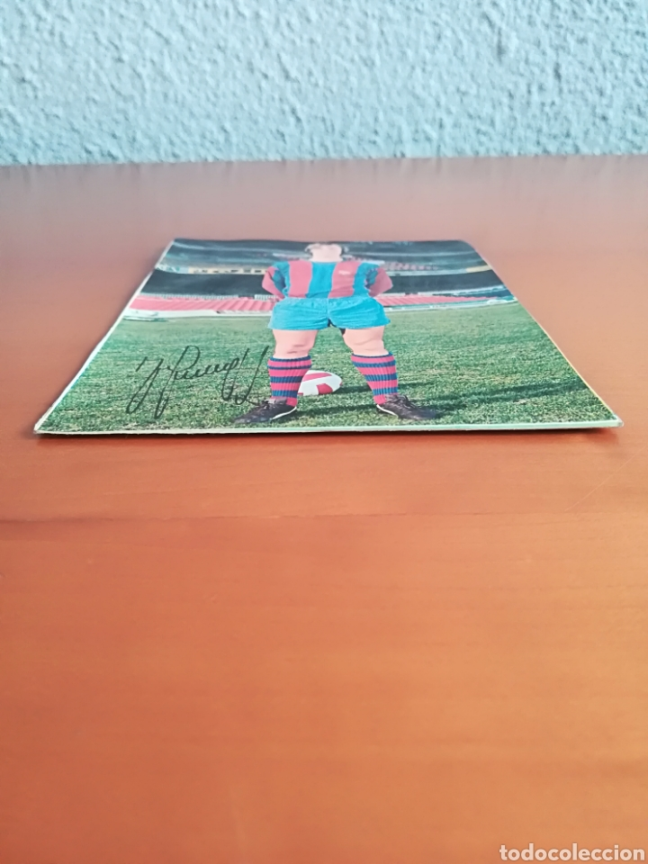 Coleccionismo deportivo: Postal Johan Cruyff firma impresa - FC Barcelona Barça fútbol culé autógrafo - Foto 3 - 117024740