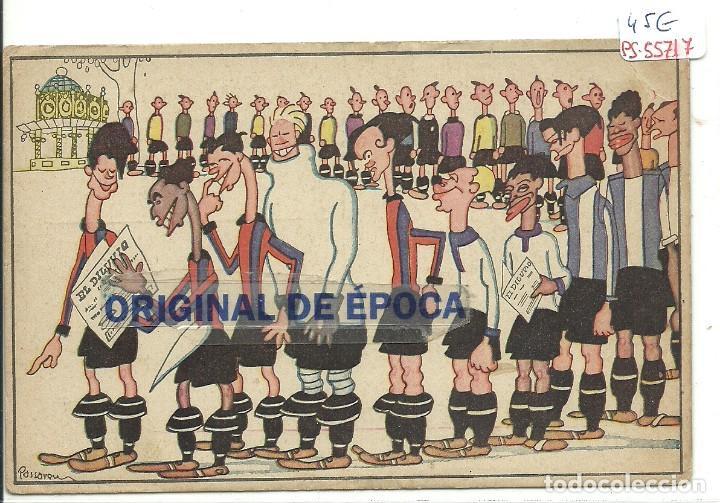 (PS-55717)EL DILUVIO.POSTAL PUBLICITARIA ILUSTRADA PASSARELL. FC BARCELONA,R.C.D.ESPAÑOL,ETC. (Coleccionismo Deportivo - Postales de Deportes - Fútbol)