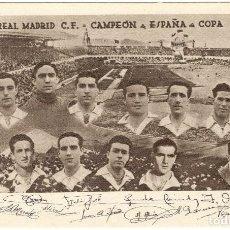 Coleccionismo deportivo: POSTAL DE FUTBOL - REAL MADRID C.F. - CAMPEÓN DE ESPAÑA DE COPA - AÑO 1946. Lote 118614255