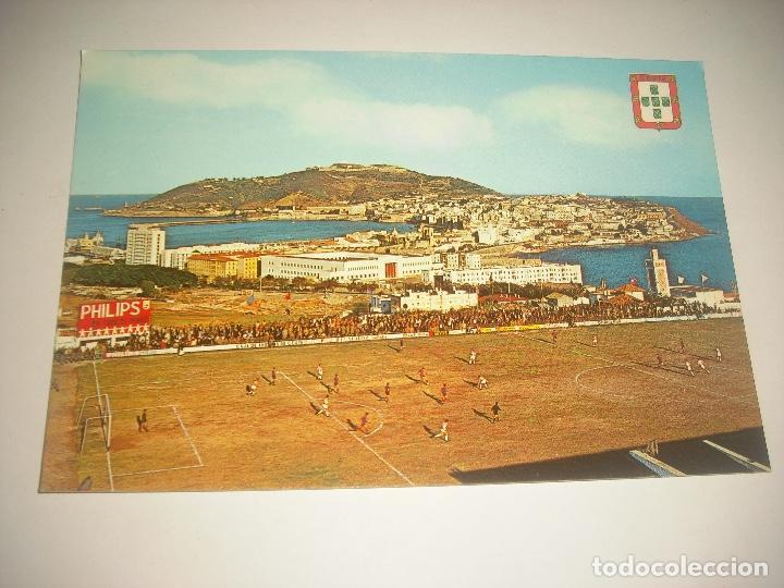 CEUTA 31 , VISTA DESDE EL CAMPO ALFONSO MORUBE , LUIS CABELLO GARCIA SIN CIRCULAR (Coleccionismo Deportivo - Postales de Deportes - Fútbol)