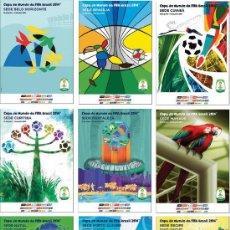 Colecionismo desportivo: WORLD CUP BRASIL 2014 - CIUDADES SEDE COLLECTION (12 DIFFERENTS POSTCARDS) - SIZE 15X10 CM. APROX.. Lote 122605743