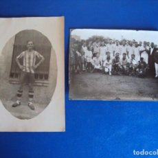Coleccionismo deportivo: (F-180612)LOTE DE 2 FOTOGRAFIAS FOOT-BALL - ESCUDO R.C.D.ESPAÑOL. Lote 123182143