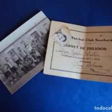 Coleccionismo deportivo: (F-180618)FOTOGRAFIA Y CARNET DEL F.C.SANTBOIA 1933-34. Lote 123189587