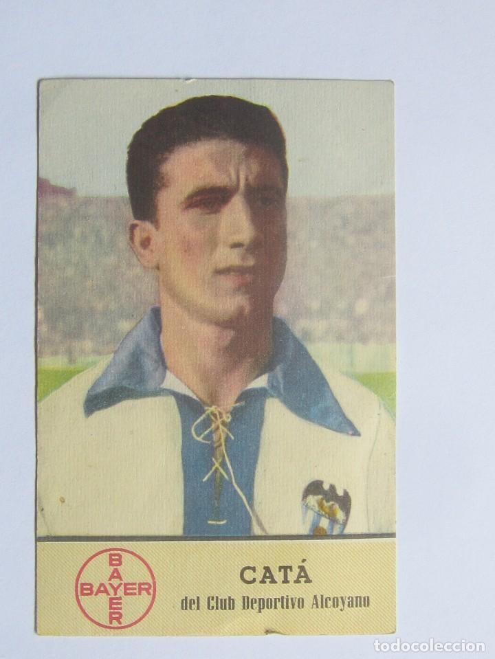 CATÁ, DEL CLUB DEPORTIVO ALCOYANO (BAYER) (Coleccionismo Deportivo - Postales de Deportes - Fútbol)