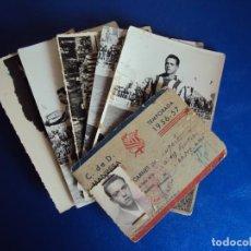 Coleccionismo deportivo: (F-180622)LOTE DE 6 FOTOGRAFIAS Y CARNET JUGADOR C.F.MANRESA - AÑOS 50. Lote 123348839