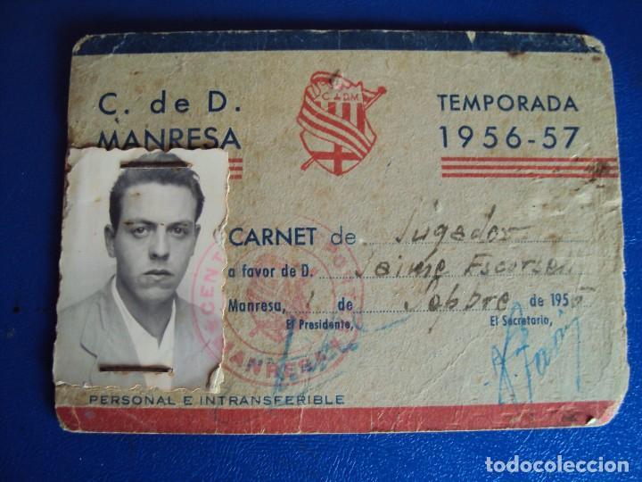 Coleccionismo deportivo: (F-180622)LOTE DE 6 FOTOGRAFIAS Y CARNET JUGADOR C.F.MANRESA - AÑOS 50 - Foto 2 - 123348839