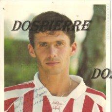 Coleccionismo deportivo: POSTAL ZIGANDA, OFICIAL ATHLETIC DE BILBAO, CON AUTÓGRAFO Y DEDICATORIA. Lote 123380003