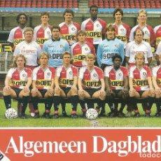 Coleccionismo deportivo: POSTAL PUBLICITARIA FEYENOORD (HOLANDA) TEMPORADA 19987/88 . Lote 125220835