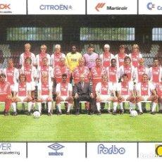Coleccionismo deportivo: POSTAL PUBLICITARIA AJAX (HOLANDA) TEMPORADA 1989/90 . Lote 125221259