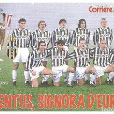 Coleccionismo deportivo: POSTAL PUBLICITARIA JUVENTUS (ITALIA) TEMPORADA 1995/96 . Lote 125221891
