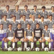 Coleccionismo deportivo: POSTAL PUBLICITARIA JUVENTUS (ITALIA) TEMPORADA 1987/88 . Lote 125221987