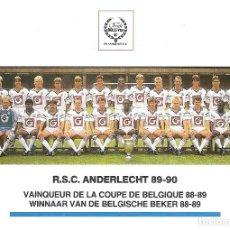 Coleccionismo deportivo: POSTAL ANDERLECHT (BÉLGICA). TEMPORADA 1989/90 . Lote 125222475