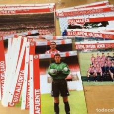 Coleccionismo deportivo: ATHLETIC BILBAO TEMPORADA 2000-01 FICHAS EL CORREO. Lote 126191167