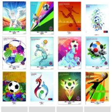 Coleccionismo deportivo: WORLD CUP RUSSIA 2018 - CIUDADES SEDE COLLECTION (12 DIFFERENTS POSTCARDS) - SIZE 15X10 CM. APROX.. Lote 131009431