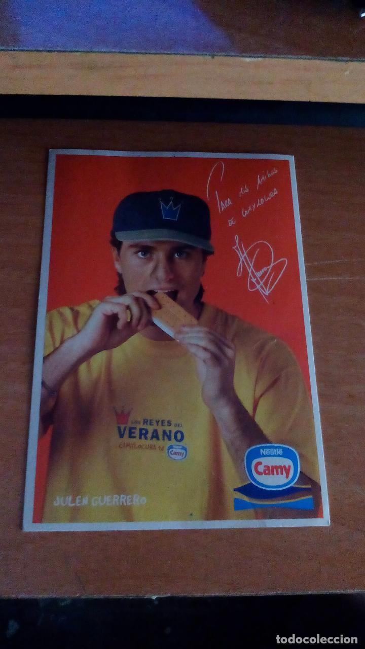 JULEN GUERRERO - PUBLICIDAD HELADOS CAMY - NESTLE (Coleccionismo Deportivo - Postales de Deportes - Fútbol)