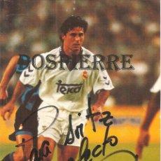 Coleccionismo deportivo: POSTAL, RAFA ALKORTA, REAL MADRID. CON DEDICATORIA Y AUTÓGRAFO. PUBLICIDAD KELME. Lote 127247319