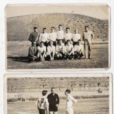 Coleccionismo deportivo: LOTE DE 2 FOTOGRAFÍAS ANTIGUA DE FÚTBOL.. Lote 127620711