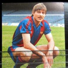 Coleccionismo deportivo: POSTAL FUTBOL POST CARD FOOTBALL MIGUELI FC BARCELONA PUBLICIDAD KELME. Lote 199444325