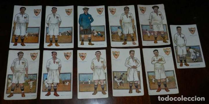 COLECCION COMPLETA DE 11 POSTALES DEL SEVILLA F.C., CAMPEON DEL SUR DE ESPAÑA 1922 - 1923, SERIE B, (Coleccionismo Deportivo - Postales de Deportes - Fútbol)