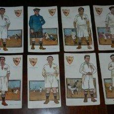 Coleccionismo deportivo: COLECCION COMPLETA DE 11 POSTALES DEL SEVILLA F.C., CAMPEON DEL SUR DE ESPAÑA 1922 - 1923, SERIE B, . Lote 128637695