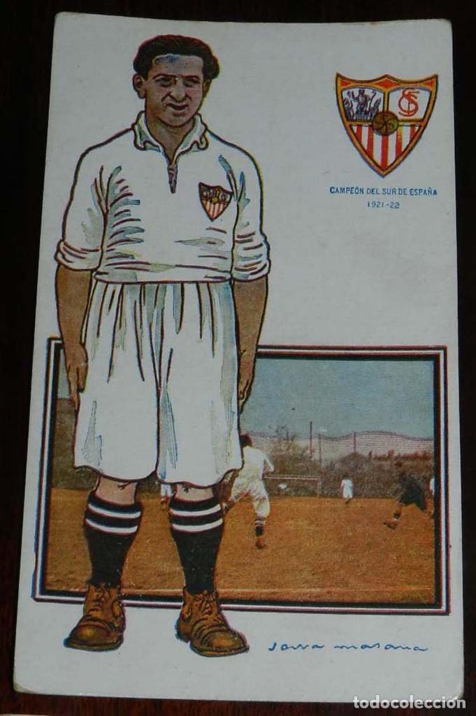 Coleccionismo deportivo: COLECCION COMPLETA DE 11 POSTALES DEL SEVILLA F.C., CAMPEON DEL SUR DE ESPAÑA 1922 - 1923, SERIE B, - Foto 2 - 128637695