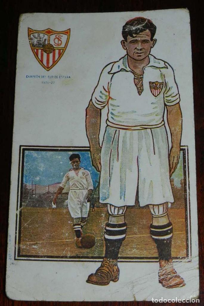 Coleccionismo deportivo: COLECCION COMPLETA DE 11 POSTALES DEL SEVILLA F.C., CAMPEON DEL SUR DE ESPAÑA 1922 - 1923, SERIE B, - Foto 5 - 128637695