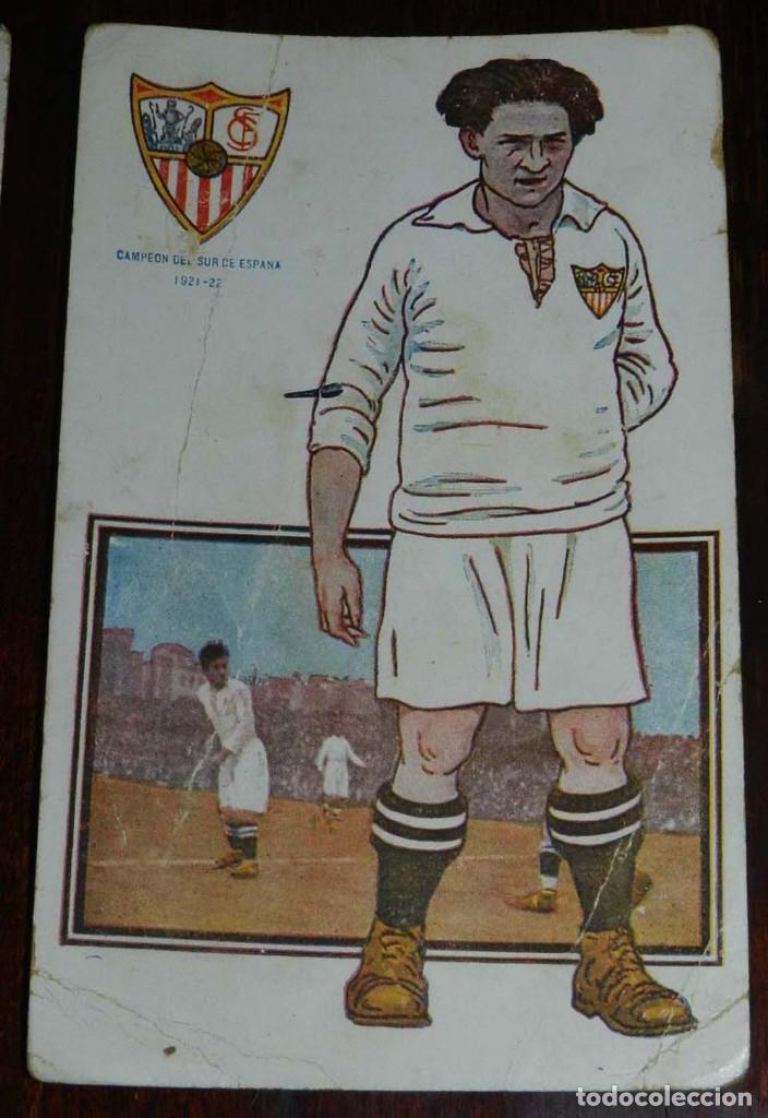 Coleccionismo deportivo: COLECCION COMPLETA DE 11 POSTALES DEL SEVILLA F.C., CAMPEON DEL SUR DE ESPAÑA 1922 - 1923, SERIE B, - Foto 6 - 128637695