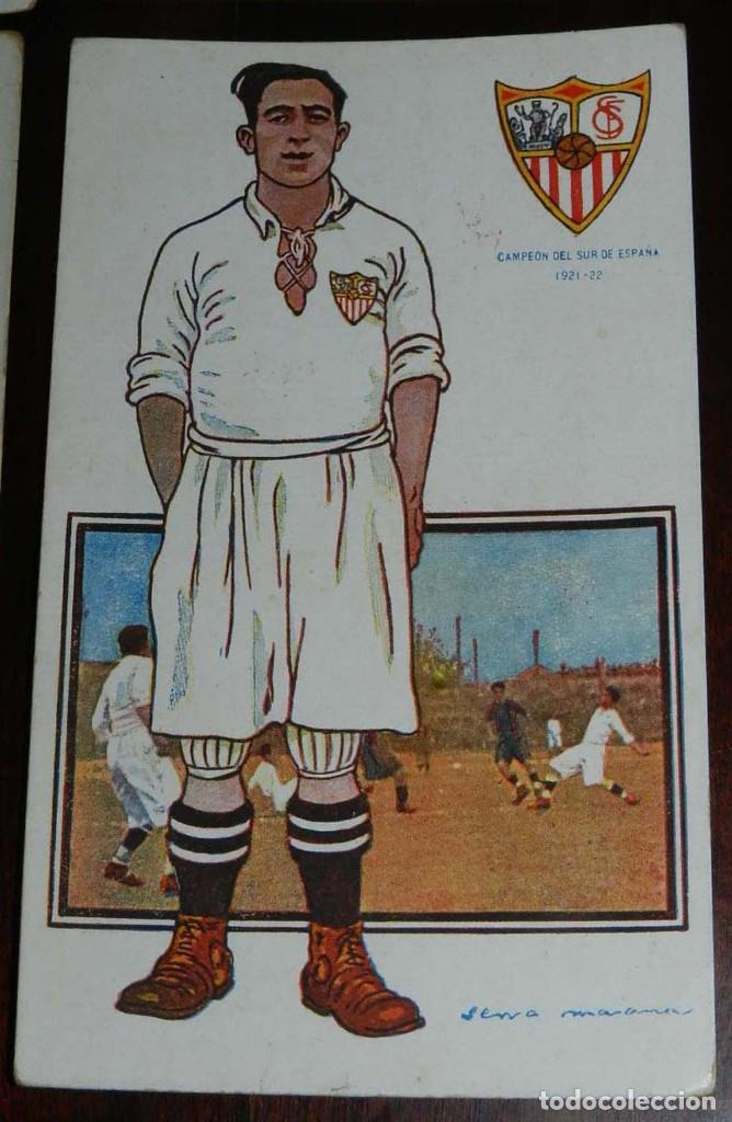 Coleccionismo deportivo: COLECCION COMPLETA DE 11 POSTALES DEL SEVILLA F.C., CAMPEON DEL SUR DE ESPAÑA 1922 - 1923, SERIE B, - Foto 8 - 128637695