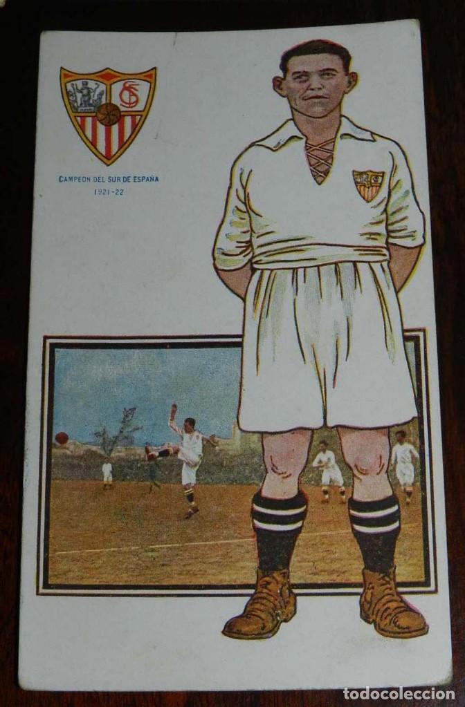 Coleccionismo deportivo: COLECCION COMPLETA DE 11 POSTALES DEL SEVILLA F.C., CAMPEON DEL SUR DE ESPAÑA 1922 - 1923, SERIE B, - Foto 9 - 128637695