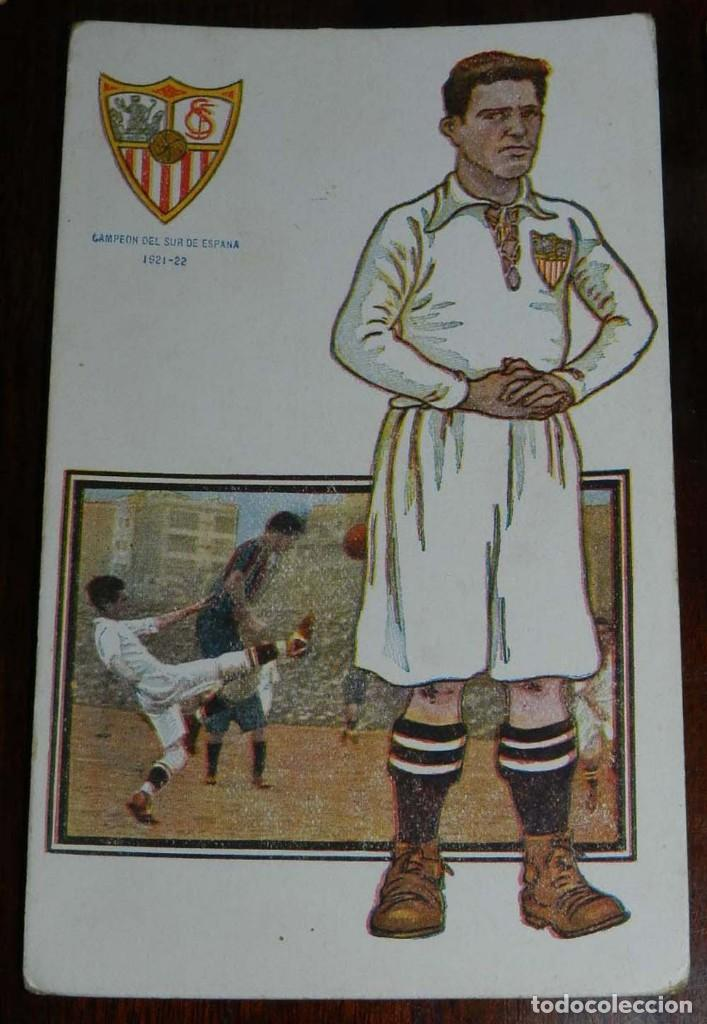 Coleccionismo deportivo: COLECCION COMPLETA DE 11 POSTALES DEL SEVILLA F.C., CAMPEON DEL SUR DE ESPAÑA 1922 - 1923, SERIE B, - Foto 10 - 128637695