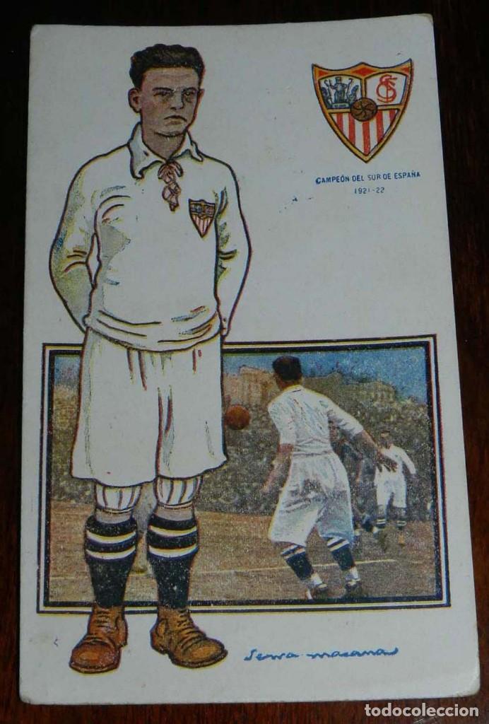 Coleccionismo deportivo: COLECCION COMPLETA DE 11 POSTALES DEL SEVILLA F.C., CAMPEON DEL SUR DE ESPAÑA 1922 - 1923, SERIE B, - Foto 12 - 128637695