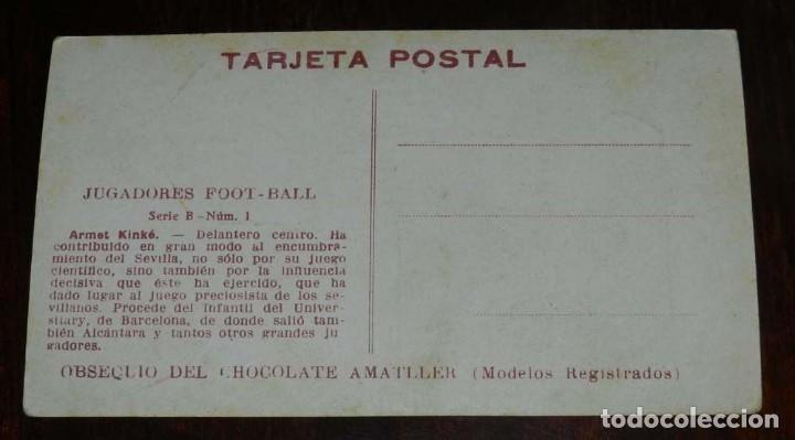 Coleccionismo deportivo: COLECCION COMPLETA DE 11 POSTALES DEL SEVILLA F.C., CAMPEON DEL SUR DE ESPAÑA 1922 - 1923, SERIE B, - Foto 13 - 128637695