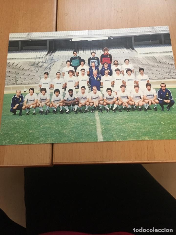 POSTAL CON LA FIRMA DE DI STEFANO PLANTILLA REAL MADRID TEMPORADA 82-83 (Coleccionismo Deportivo - Postales de Deportes - Fútbol)