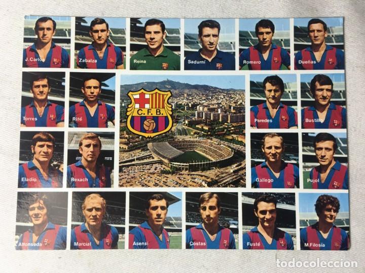 POSTAL F.C BARCELONA (Coleccionismo Deportivo - Postales de Deportes - Fútbol)