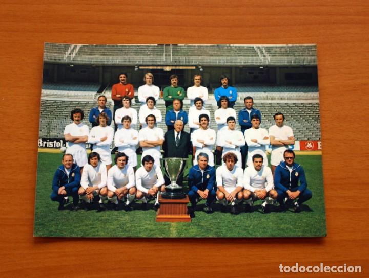 FOTO POSTAL REAL MADRID-PLANTILLA-TEMPORADA 1977-1978, 77-78-BERGAS INDUSTRIAS GRÁFICAS-TAMAÑO 15X21 (Coleccionismo Deportivo - Postales de Deportes - Fútbol)