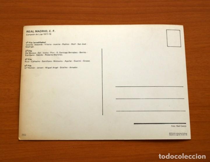 Coleccionismo deportivo: Foto Postal Real Madrid-Plantilla-Temporada 1977-1978, 77-78-Bergas Industrias Gráficas-Tamaño 15x21 - Foto 2 - 134308326
