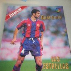 Coleccionismo deportivo: GUARDIOLA PÓSTER 96-97. Lote 134410561