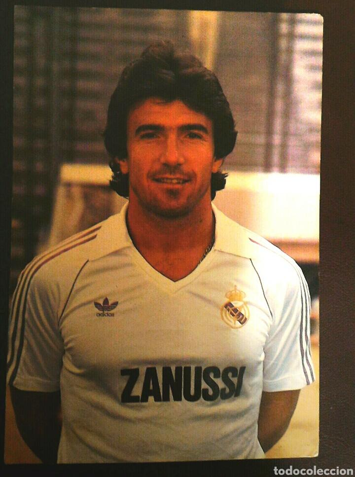 FOTO POSTAL OFICIAL JUANITO REAL MADRID (Coleccionismo Deportivo - Postales de Deportes - Fútbol)