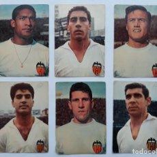 Coleccionismo deportivo: LOTE 6 POSTALES JUGADORES VALENCIA CLUB FUTBOL. Lote 135440174