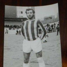 Coleccionismo deportivo: FOTOGRAFIA DE JUGADOR DEL C.D. LEGANES, MADRID, 1971 / 72, TAMAÑO POSTAL.. Lote 135479170