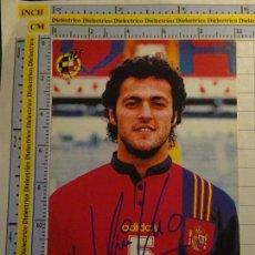 Coleccionismo deportivo: FOTO POSTAL DE LA SELECCIÓN ESPAÑOLA DE FÚTBOL. ESPAÑA AÑOS 90. JUGADOR KIKO. ATLÉTICO MADRID. 38. Lote 137308494
